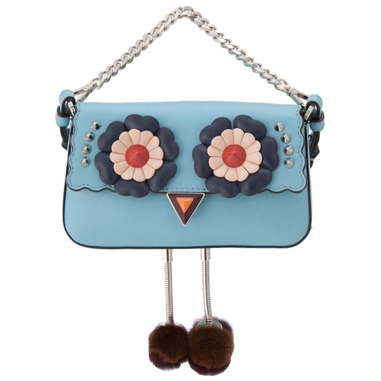 Fendi \N Blue Leather Clutch bag for Women 33 IT