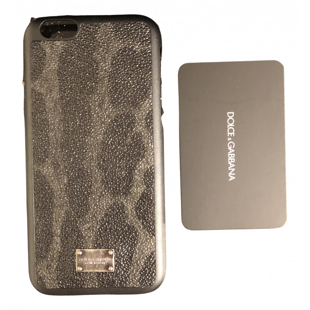 Dolce & Gabbana - Bijoux de portable   pour femme en cuir - gris