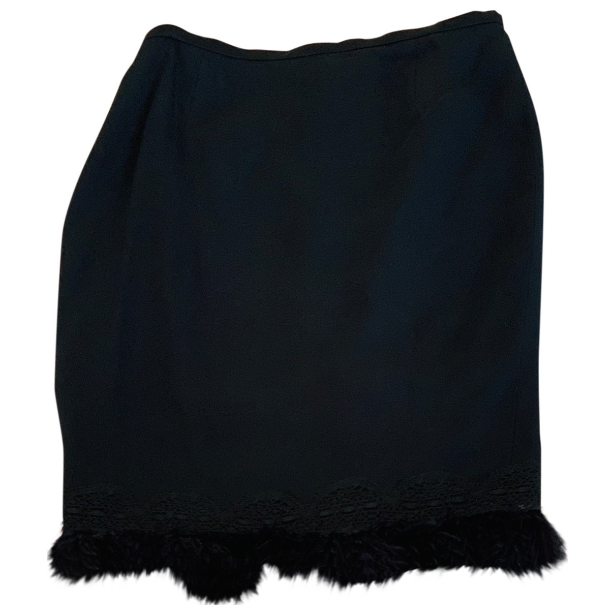 Louis Feraud \N Black Wool skirt for Women 38 FR