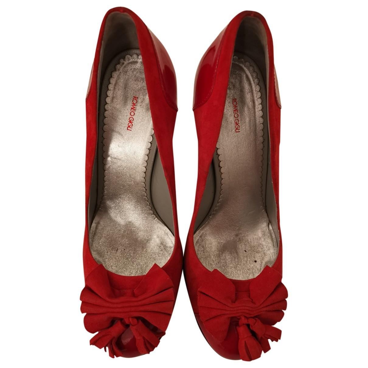 Romeo Gigli - Escarpins   pour femme en cuir - rouge