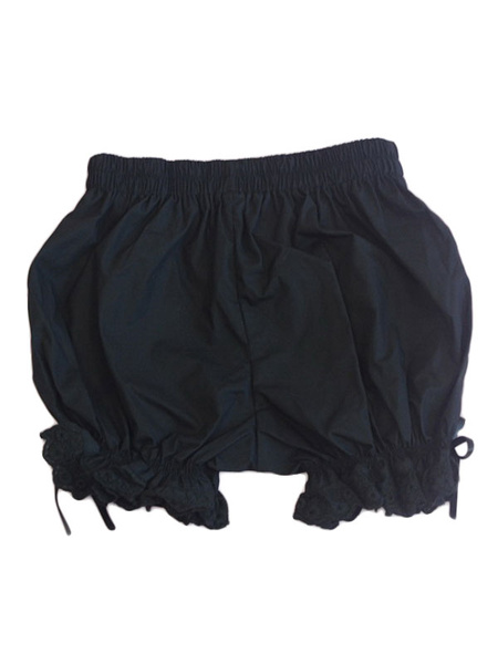 Milanoo Classic Lolita Bloomers Neverland Ruffles Ribbons White Lolita Shorts