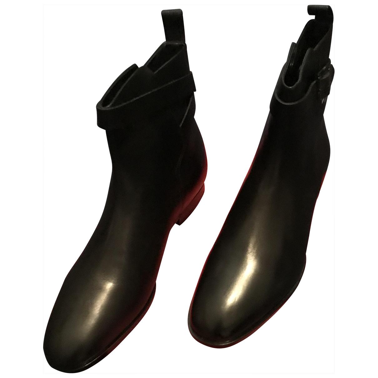 Hugo Boss \N Black Leather Boots for Men 42 EU