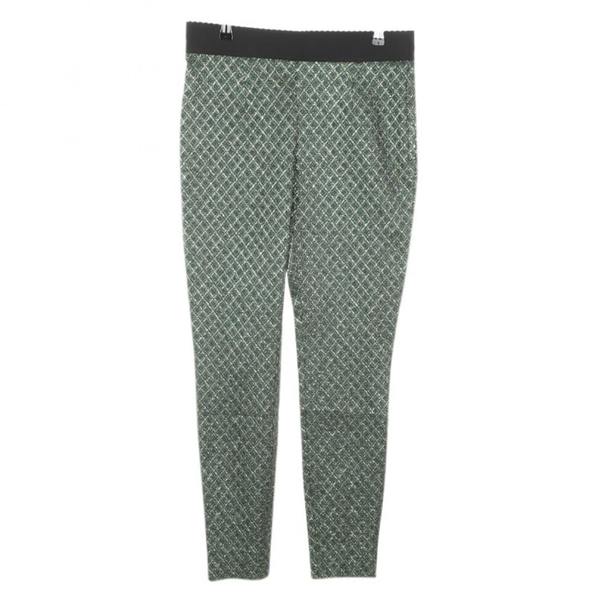 Pantalon en Sintetico Verde Dolce & Gabbana