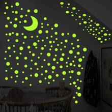 1set Luminous Moon Wall Sticker