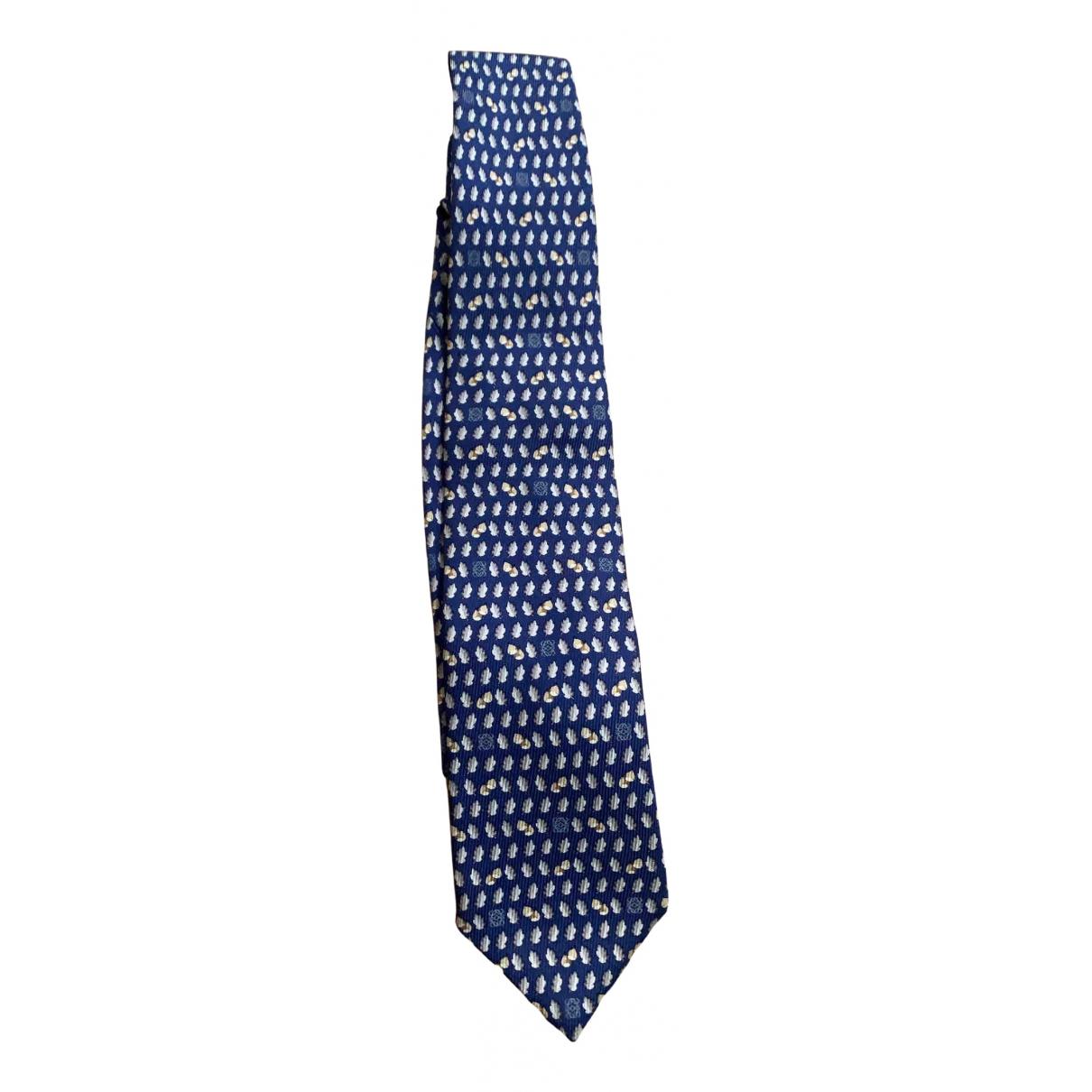 Loewe - Cravates   pour homme en soie - bleu