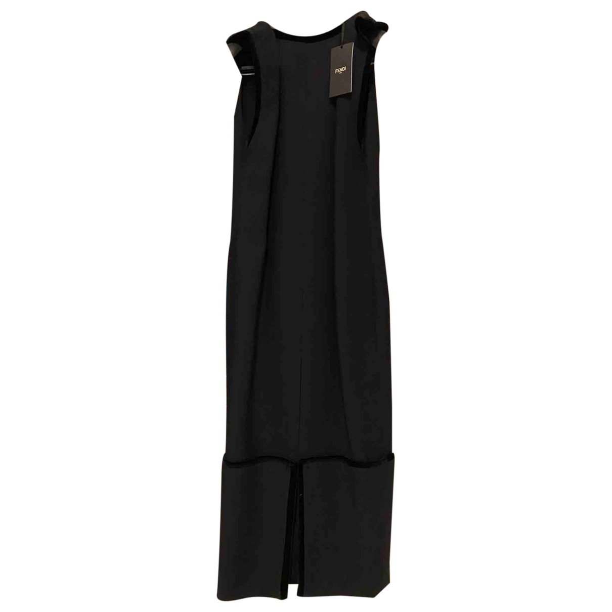 Fendi \N Kleid in  Schwarz Wolle