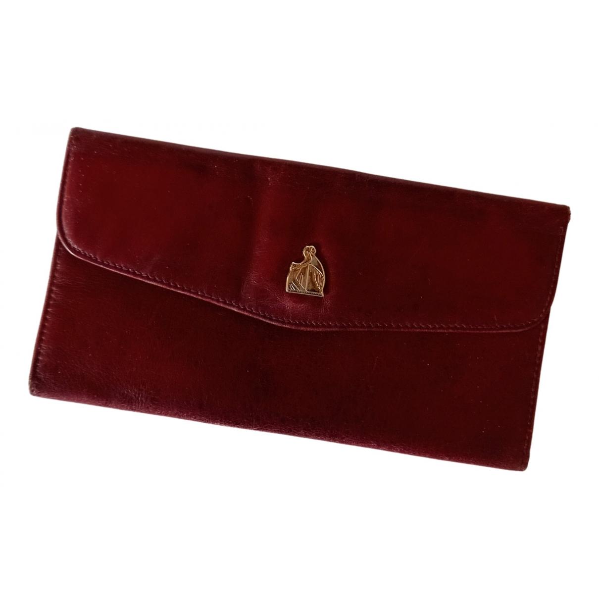 Lanvin - Portefeuille   pour femme en cuir - bordeaux