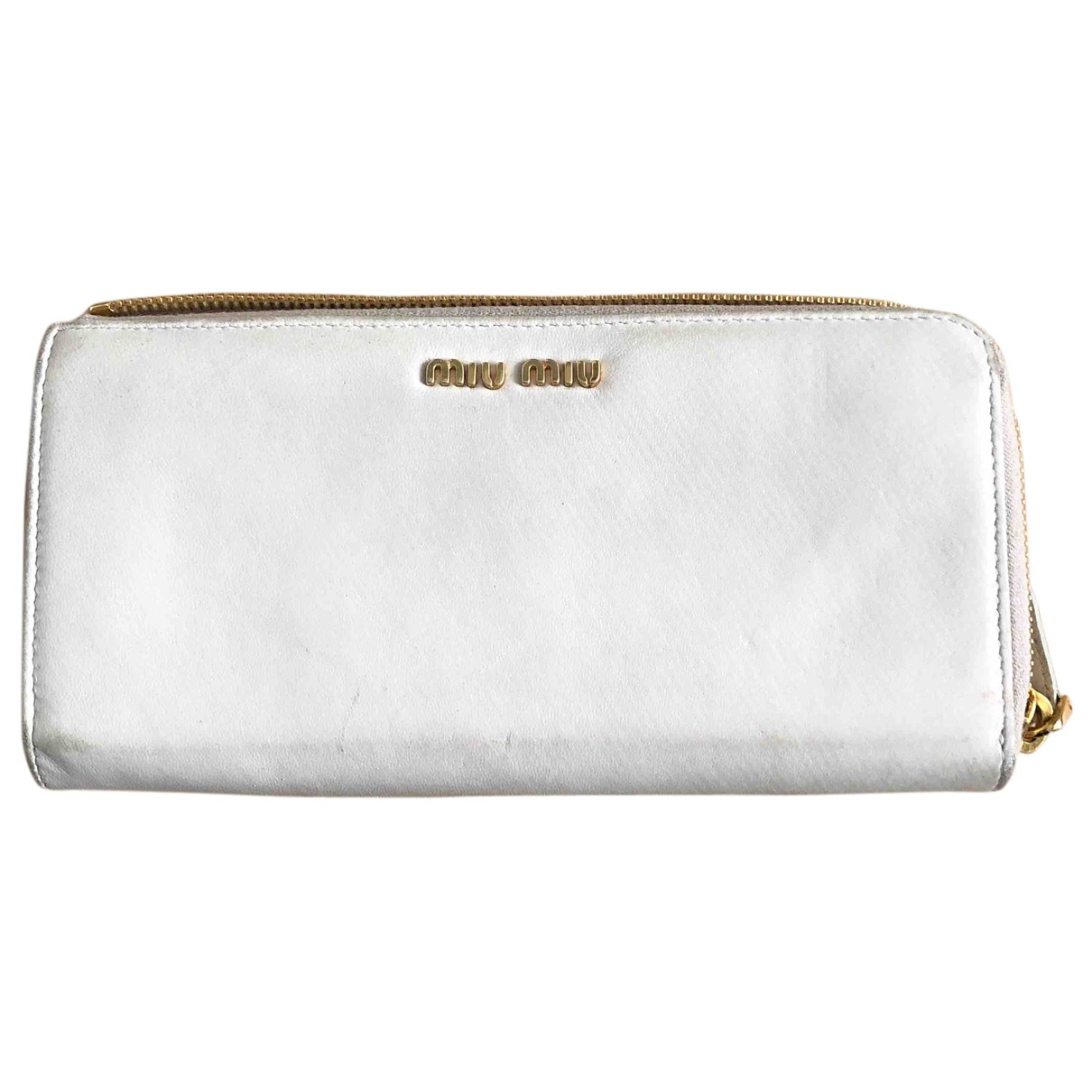 Miu Miu N White Leather Purses, wallet & cases for Women N