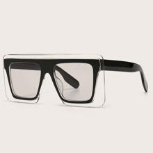 Clear Flat Top Sunglasses