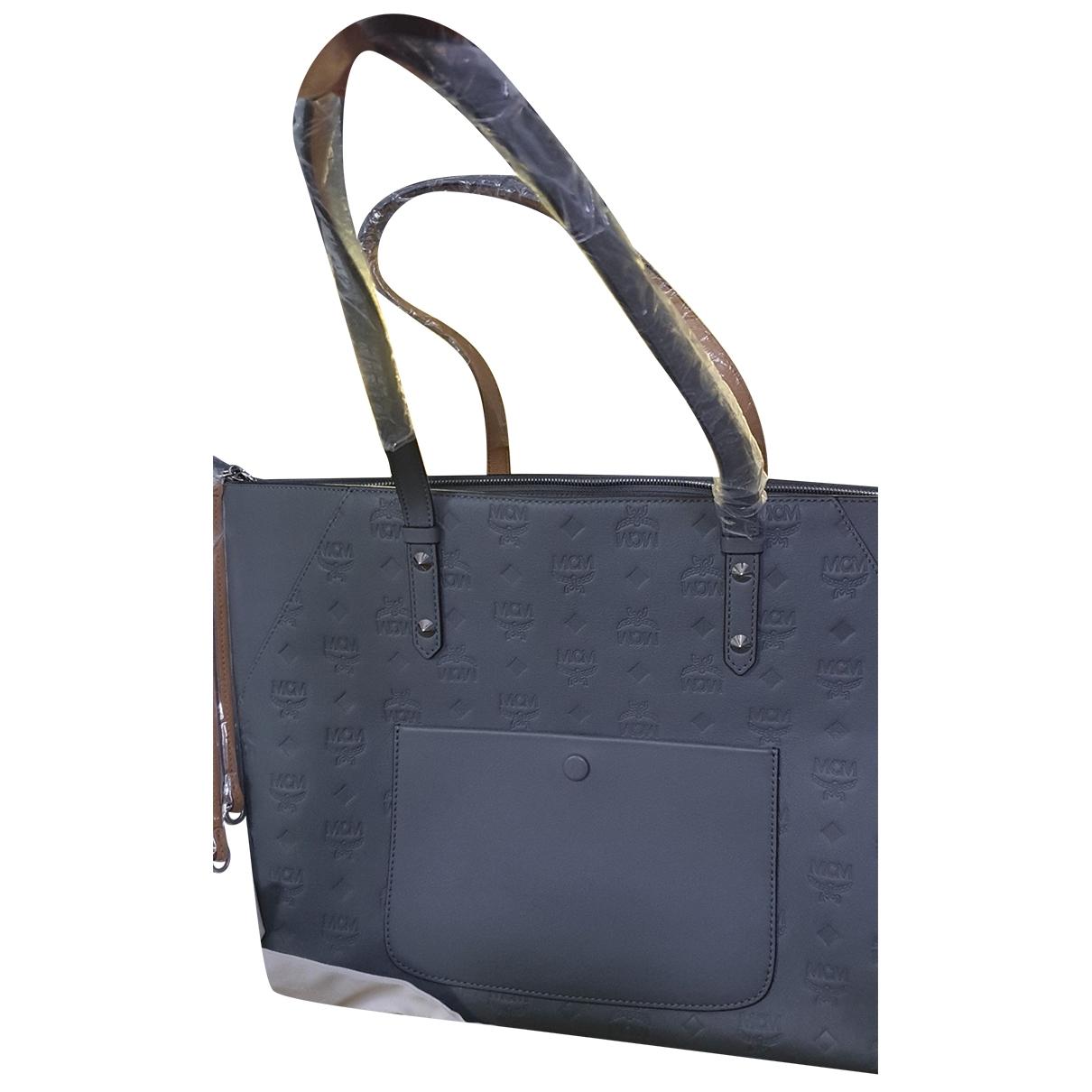Mcm \N Grey Leather handbag for Women \N