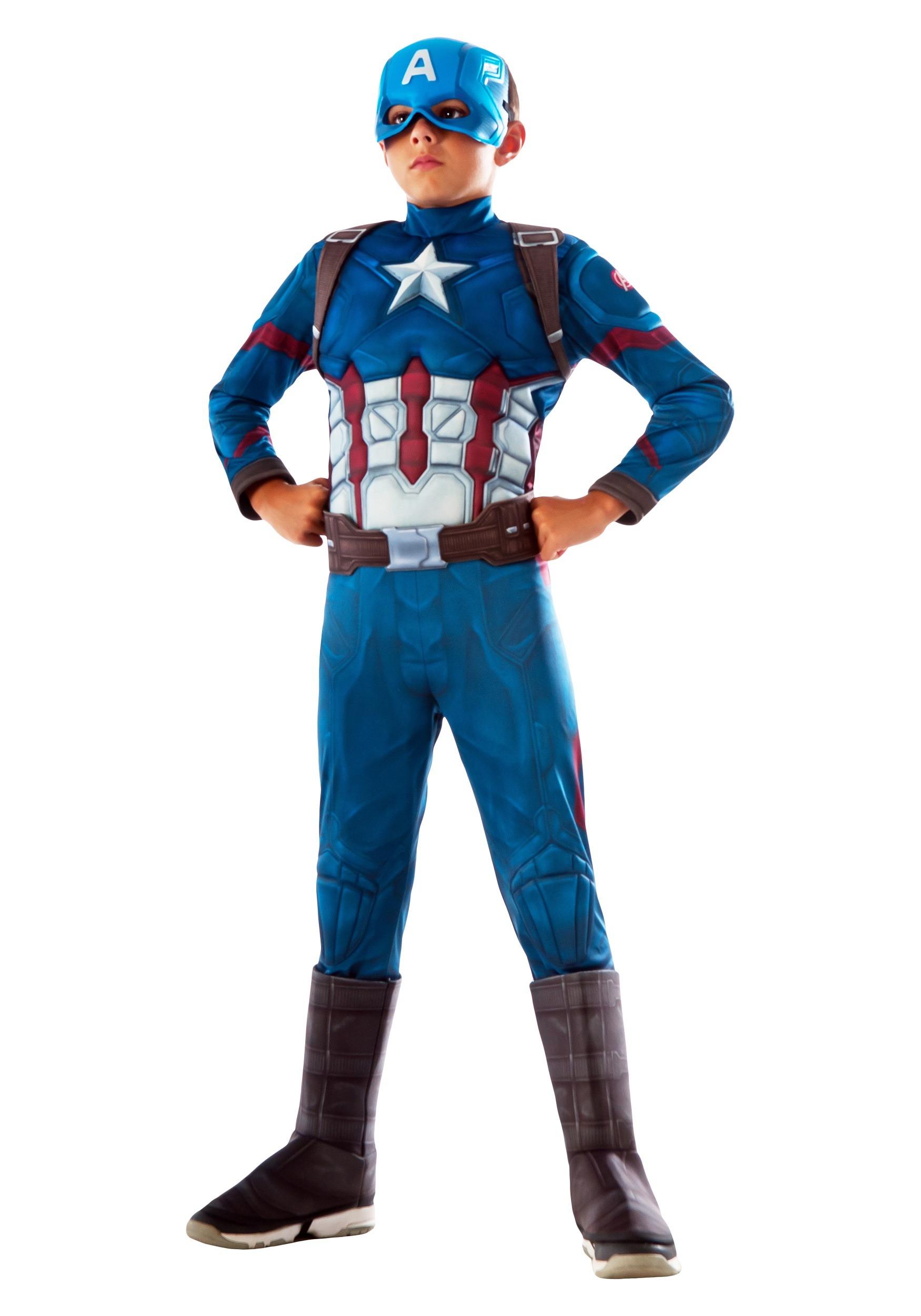 Captain America Deluxe Costume for Kids