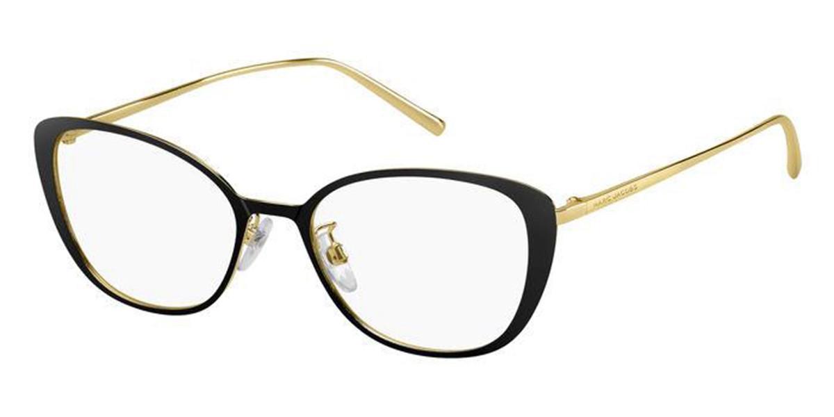 Marc Jacobs MARC 482/F Asian Fit 2M2 Women's Glasses Black Size 53 - Free Lenses - HSA/FSA Insurance - Blue Light Block Available