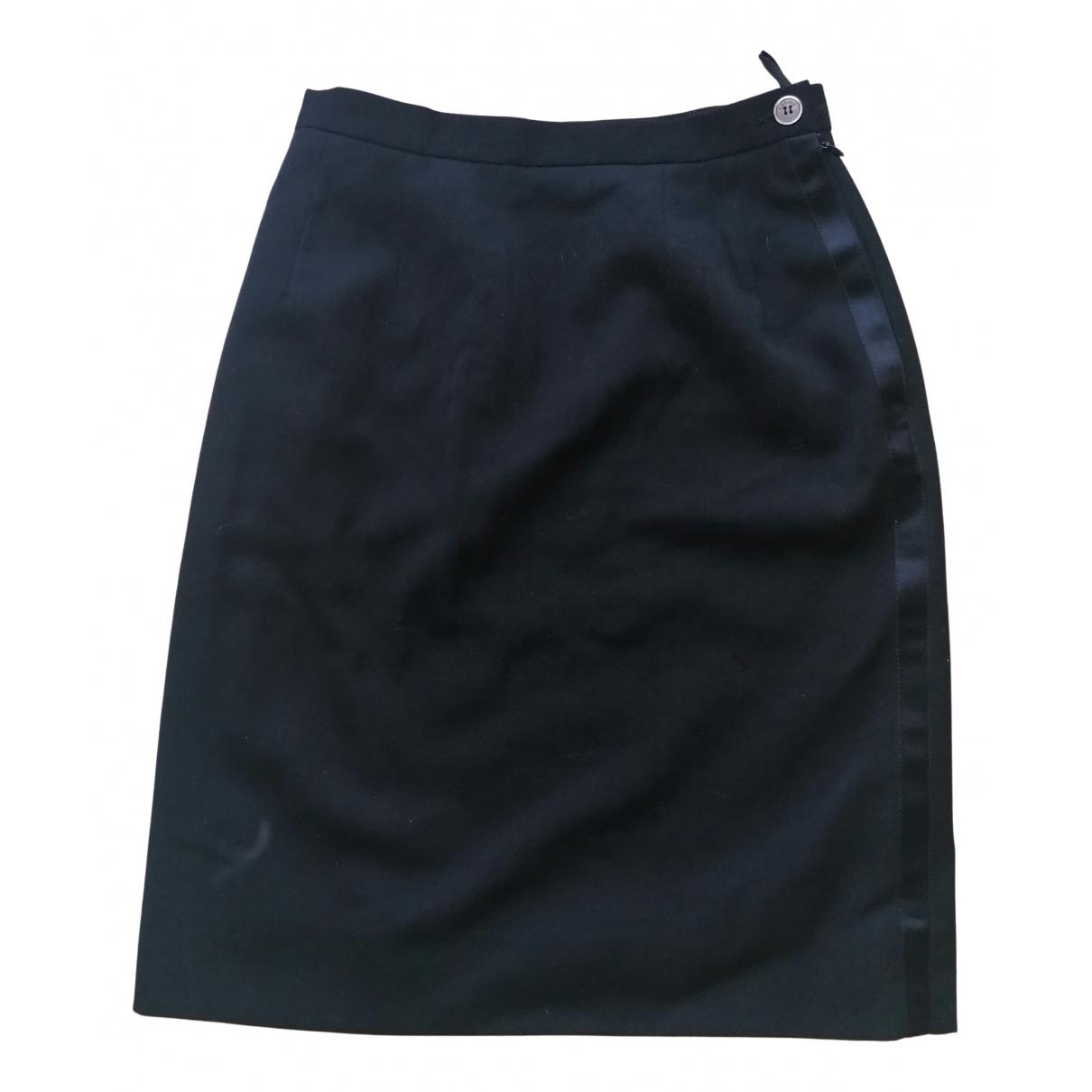 Celine N Black Cotton skirt for Women 40 FR