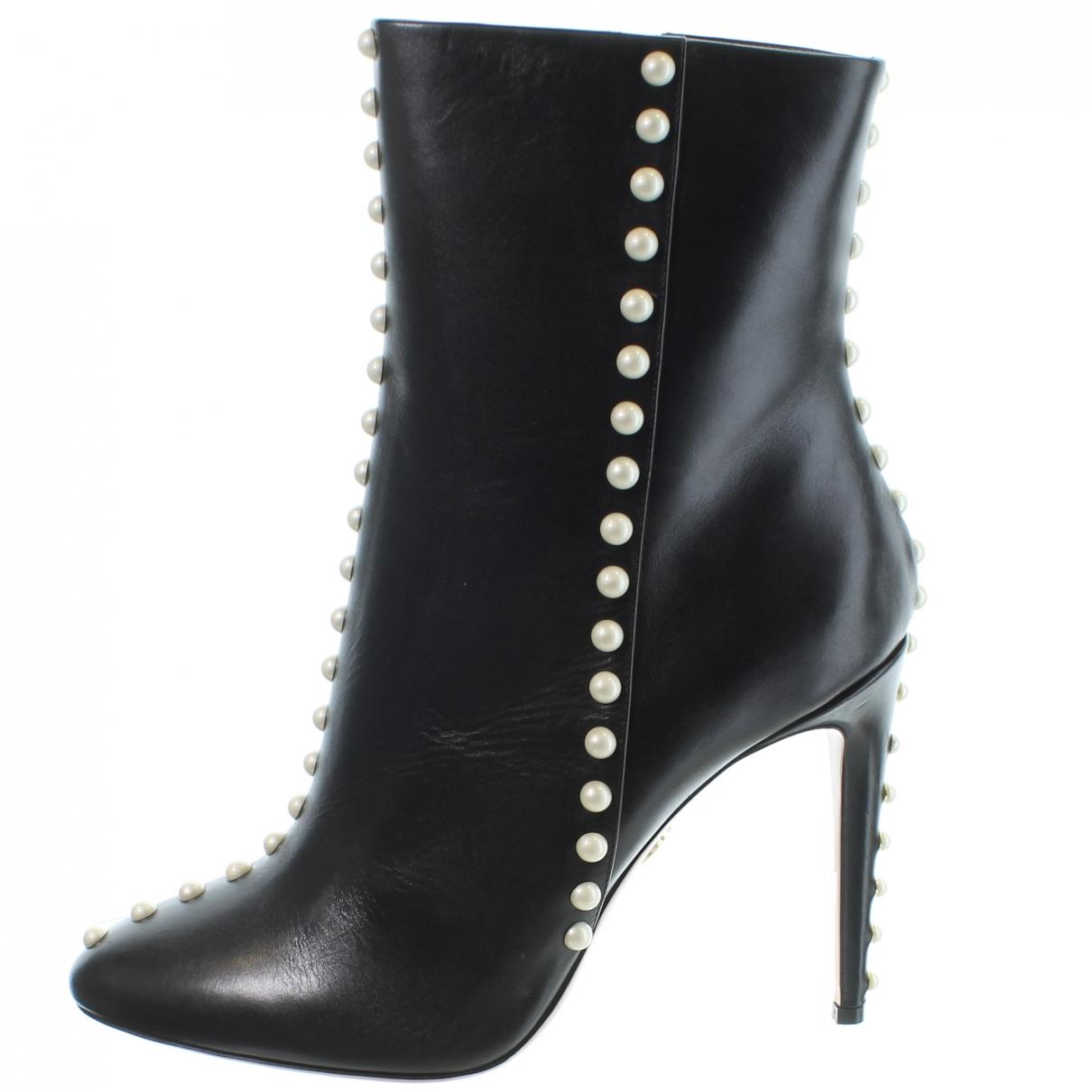 Aquazzura \N Stiefel in  Schwarz Leder