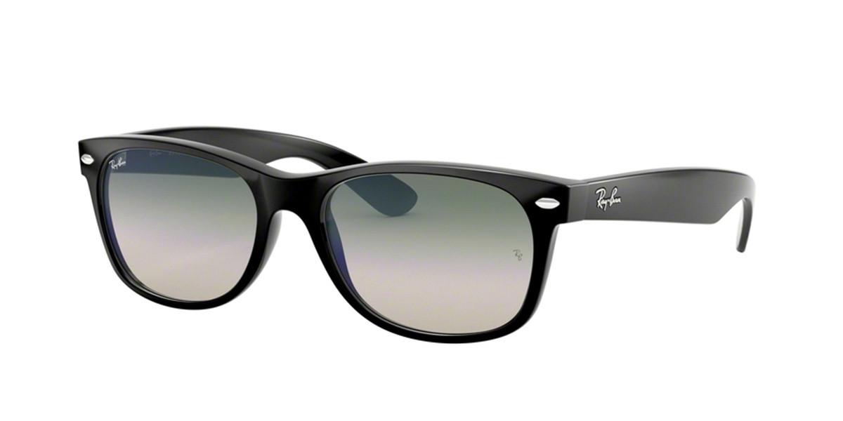 Ray-Ban RB2132F New Wayfarer Asian Fit 901/3A Men's Sunglasses Black Size 55