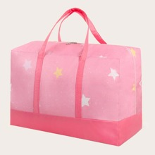 Star Print Quilt Storage Bag