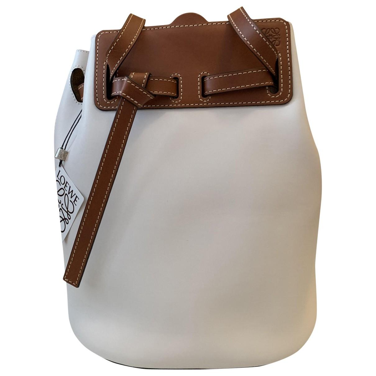 Loewe - Sac a main Lazo pour femme en cuir - blanc