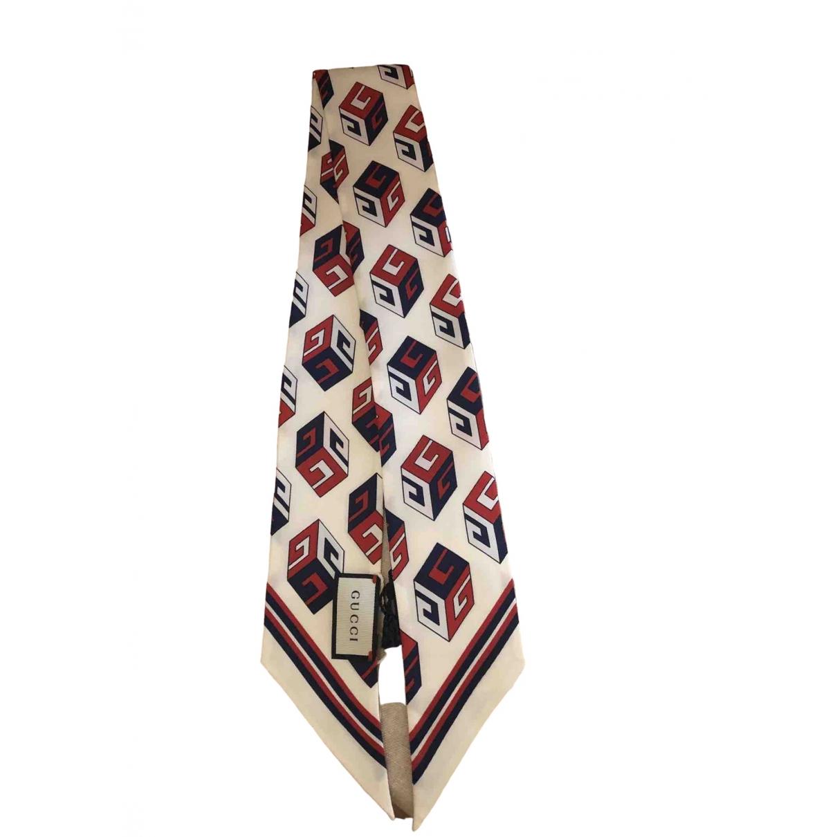 Gucci - Foulard   pour femme en soie - blanc
