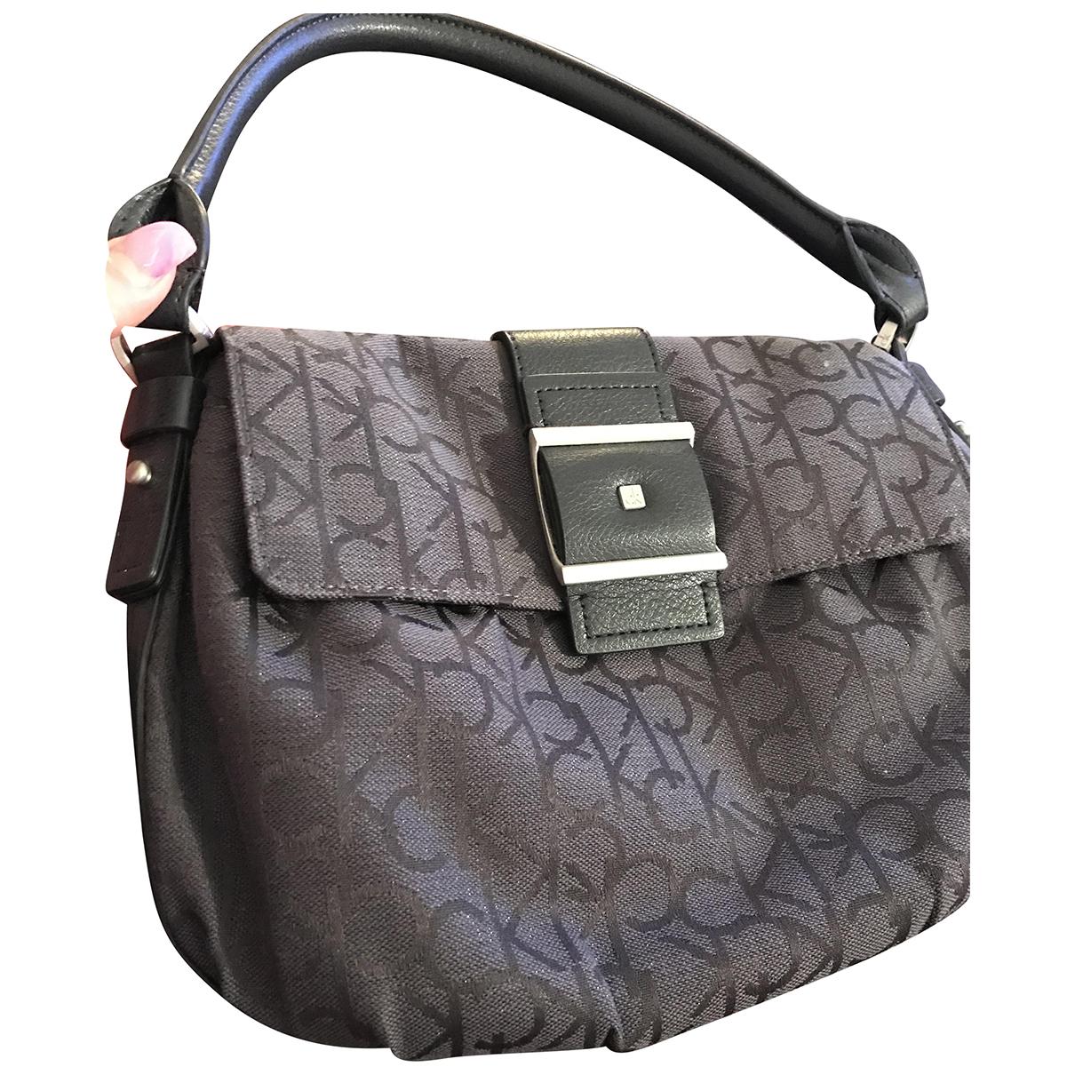Calvin Klein \N Handtasche in  Schwarz Leinen