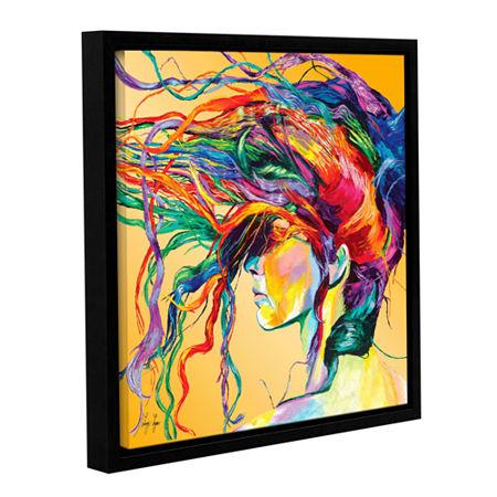Brushstone Windswept Gallery Wrapped Floater-Framed Canvas Wall Art, One Size , Orange
