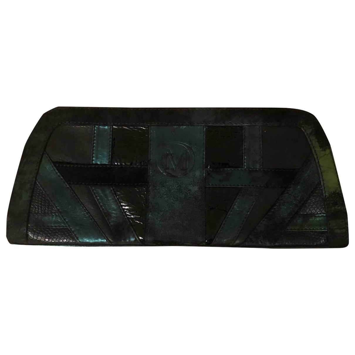 Marcel Ostertag \N Black Leather Clutch bag for Women \N