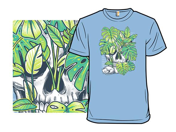 Plant Skull T Shirt