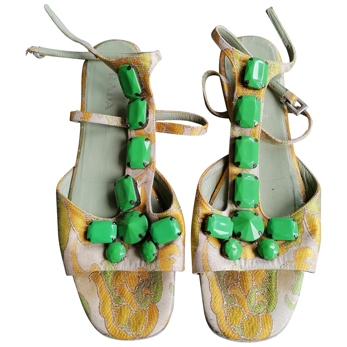 Prada - Sandales   pour femme en toile - multicolore
