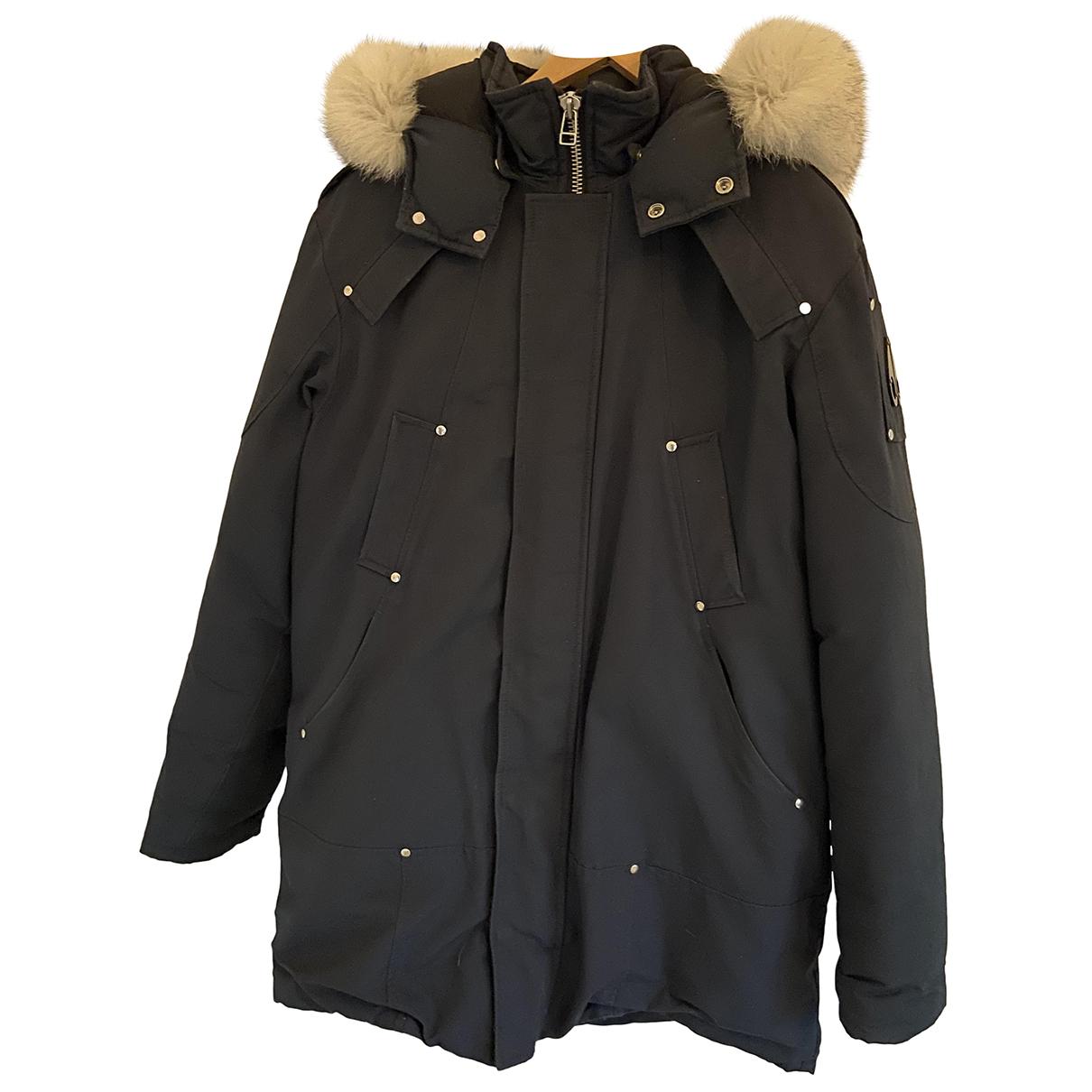 Moose Knuckles - Manteau   pour homme en coton - bleu