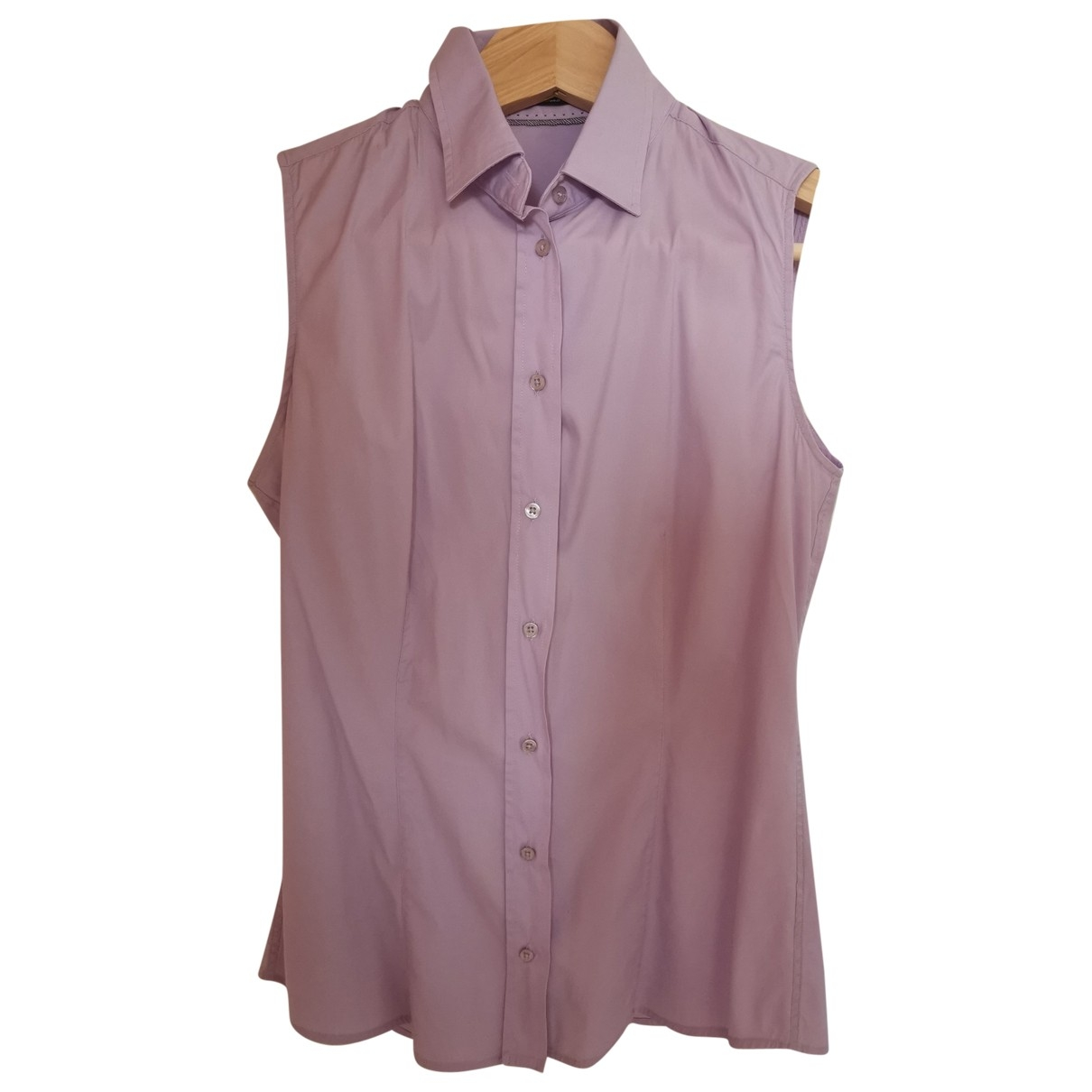 Massimo Dutti \N Purple Cotton  top for Women XS International