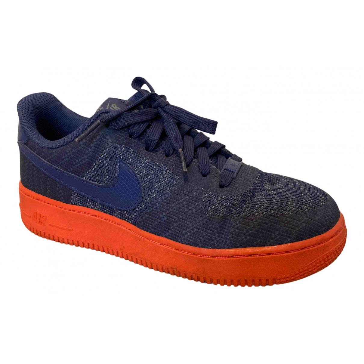 Nike Air Force 1 Sneakers in  Blau Leinen
