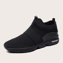 Zapatillas deportivas sin cordones anchas minimalistas de hombres