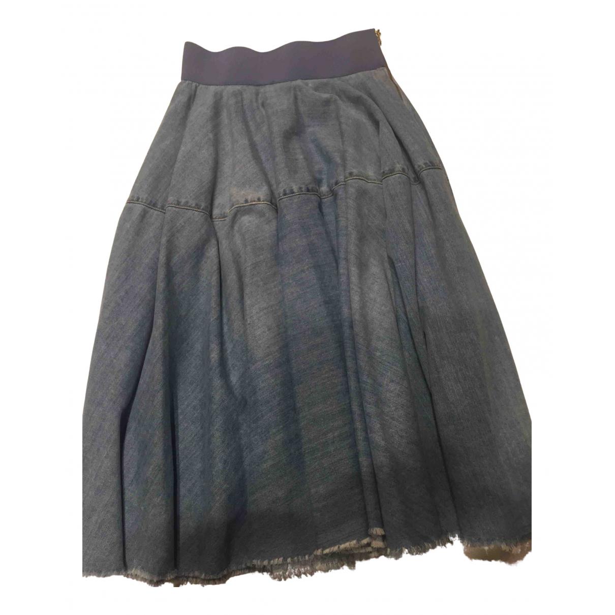 Elisabetta Franchi \N Rocke in  Blau Denim - Jeans