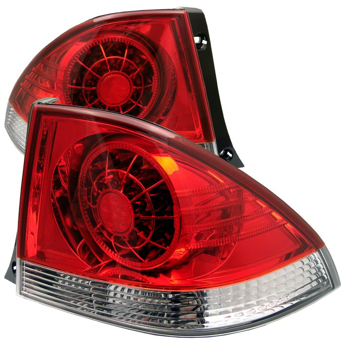 Spyder LED Red/Clear Tail Lights Lexus IS 300 01-03