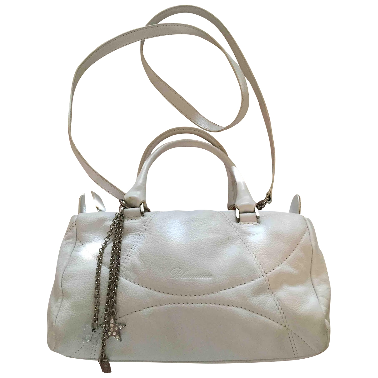 Blumarine \N White Leather handbag for Women \N