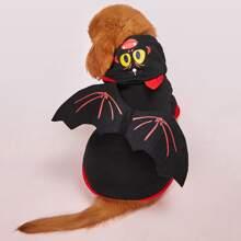 Kapuzenpullover mit Halloween Fledermaus Design fuer Hunde