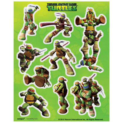 Ninja Turtles 4 Sticker Sheets/Favors Pour la fête d'anniversaire