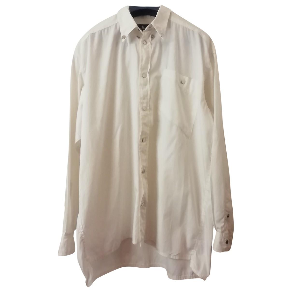 Thierry Mugler - Top   pour femme en coton - blanc