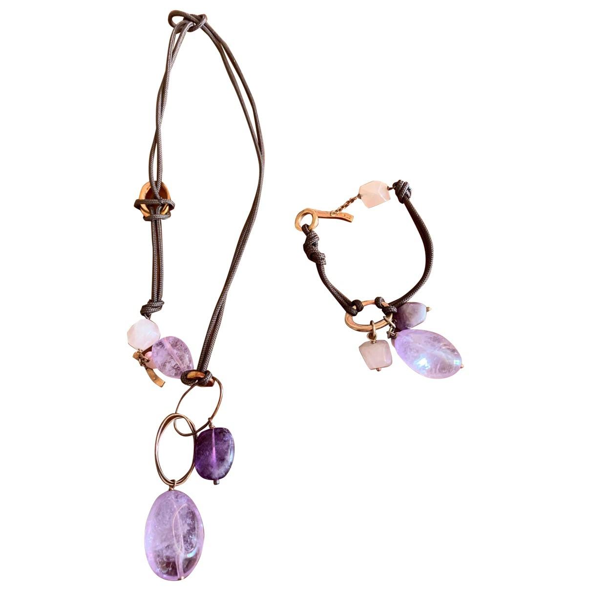 Ippocampo \N Burgundy Crystal Jewellery set for Women \N