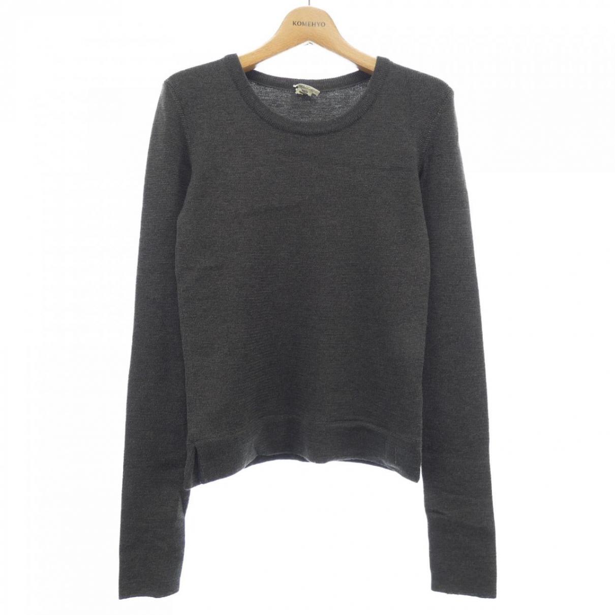 Hermes - Pull   pour femme en coton - gris