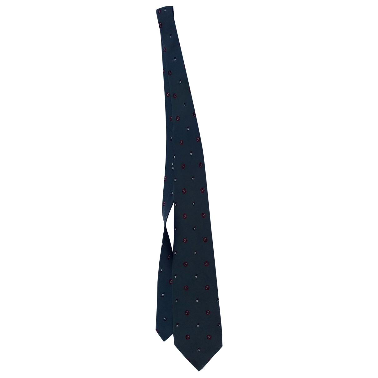 Carven \N Krawatten in  Grau Seide
