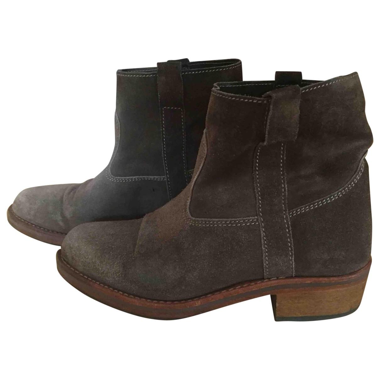 La Botte Gardiane - Boots   pour femme en suede - camel