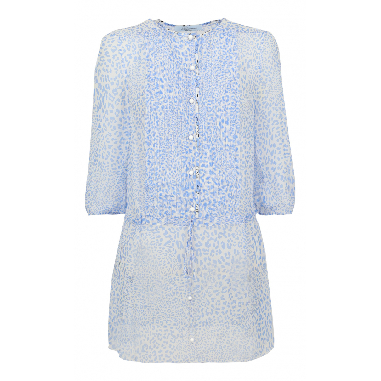 Blumarine - Top   pour femme en soie - bleu