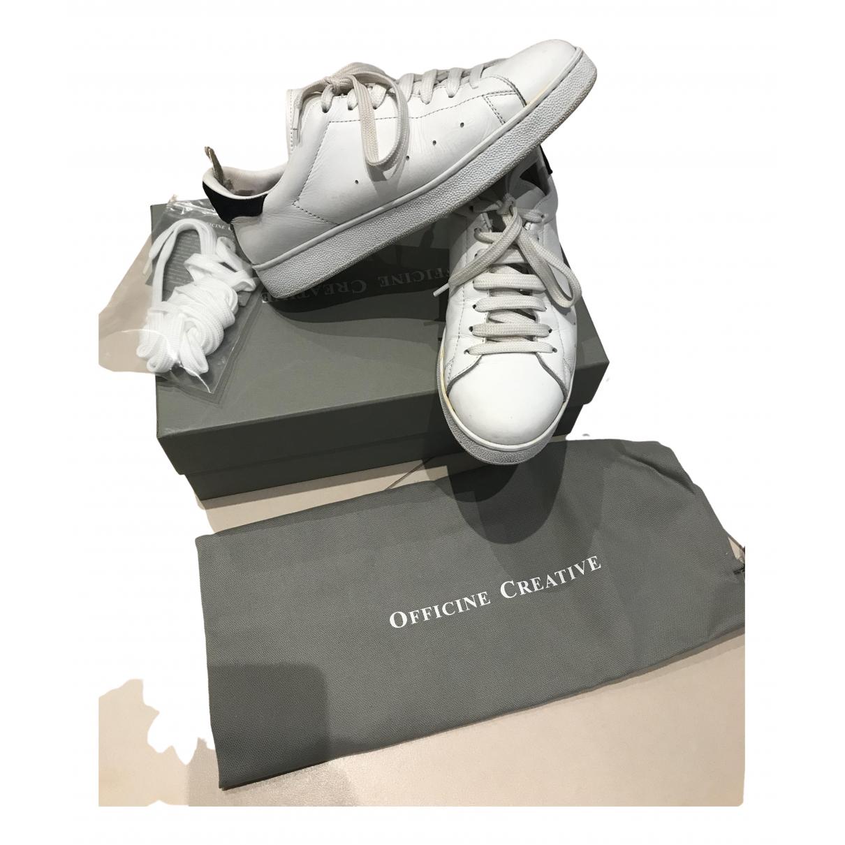 Officine Creative \N Sneakers in  Weiss Leder