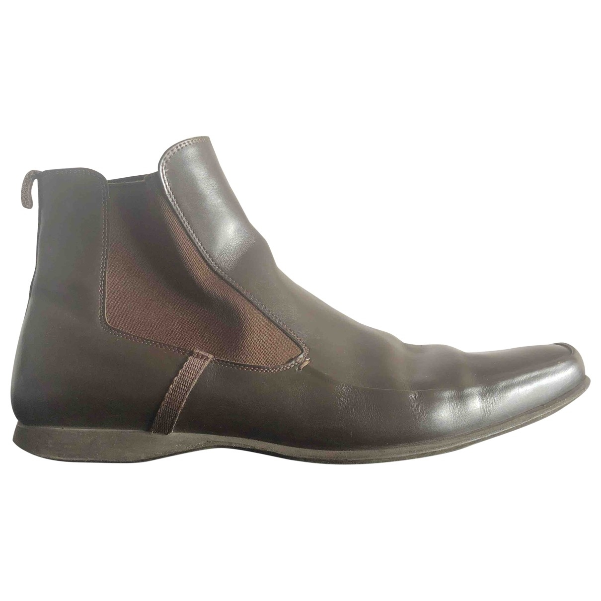 Prada \N Brown Leather Boots for Men 9.5 US