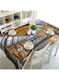 Magnificent Palace Prints Washable Dining Room Decoration 3D Tablecloth