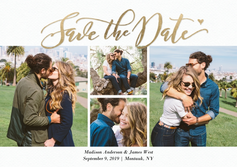 Save the Date Flat Matte Photo Paper Cards with Envelopes, 5x7, Card & Stationery -Save the Date Fancy Script