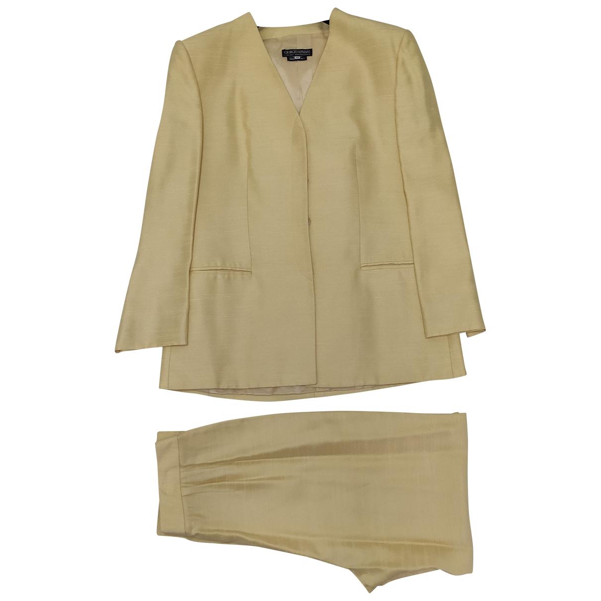 Giorgio Armani \N Yellow Silk jacket for Women 46 IT