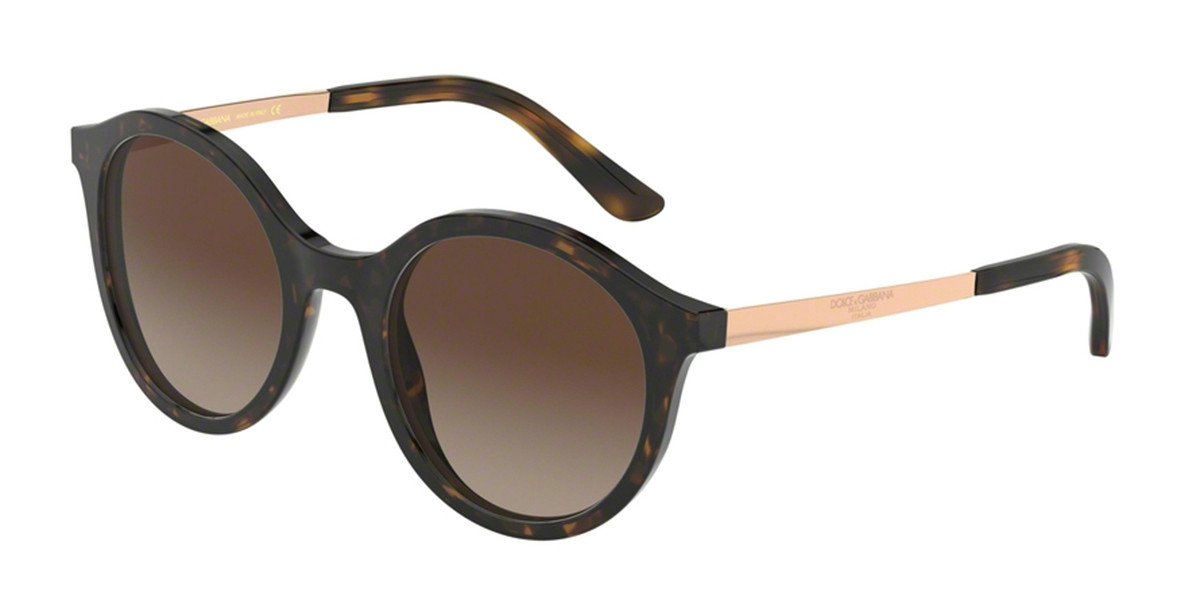 Dolce & Gabbana DG4358F Asian Fit 502/13 Women's Sunglasses Tortoise Size 51