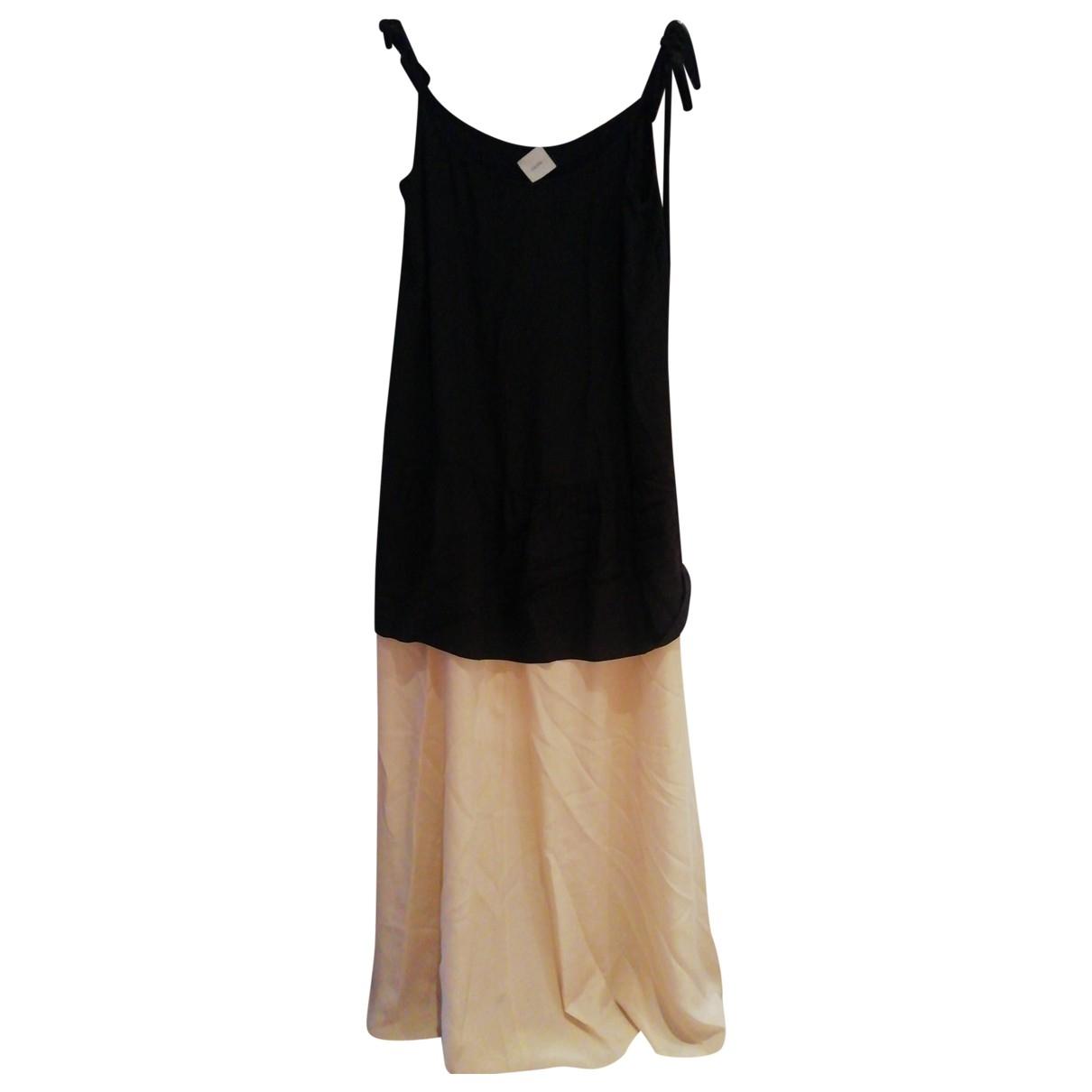 Non Signe / Unsigned Oversize Kleid in  Schwarz Seide