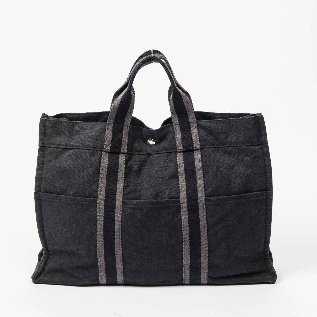 Hermes Herline Handtasche in  Schwarz Leder